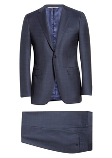 Men's Canali Milano Classic Fit Solid Wool Suit