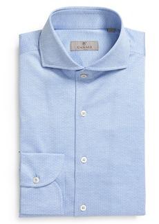 Men's Canali Neat Microprint Button-Up Shirt
