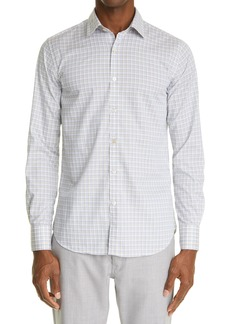 Men's Canali Regular Fit Check Button-Up Shirt