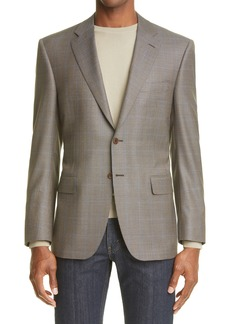 Men's Canali Siena Soft Classic Fit Houndstooth Wool Sport Coat