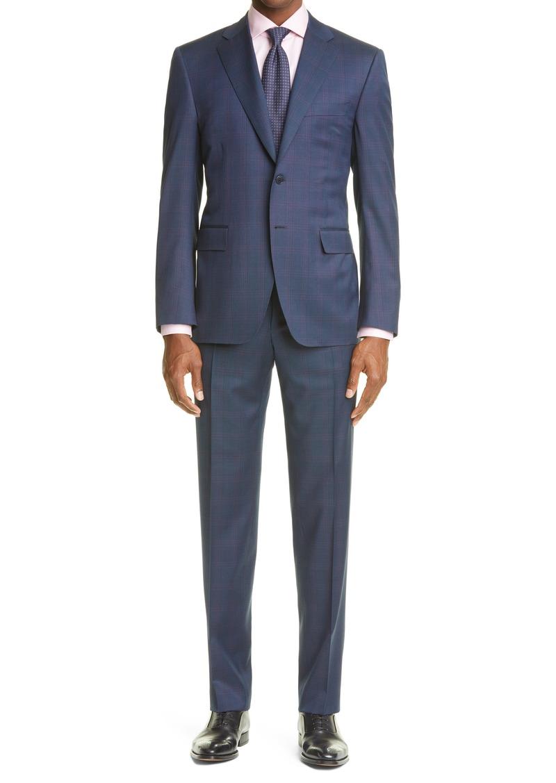 Men's Canali Siena Soft Classic Fit Plaid Wool Suit