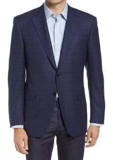 Men's Canali Sienna Men's Soft Check Wool Blend Sport Coat