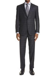 Men's Canali Sienna Soft Classic Fit Plaid Wool Suit