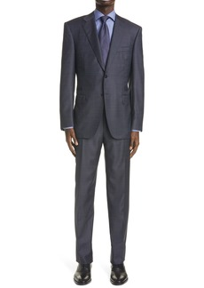 Men's Canali Sienna Soft Classic Fit Solid Wool Suit