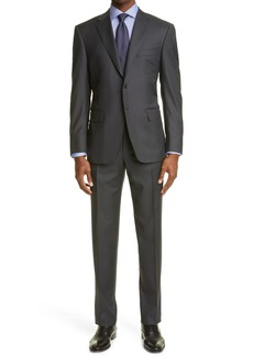 Men's Big & Tall Canali Venezia Contemporary Micro Texture Wool Suit