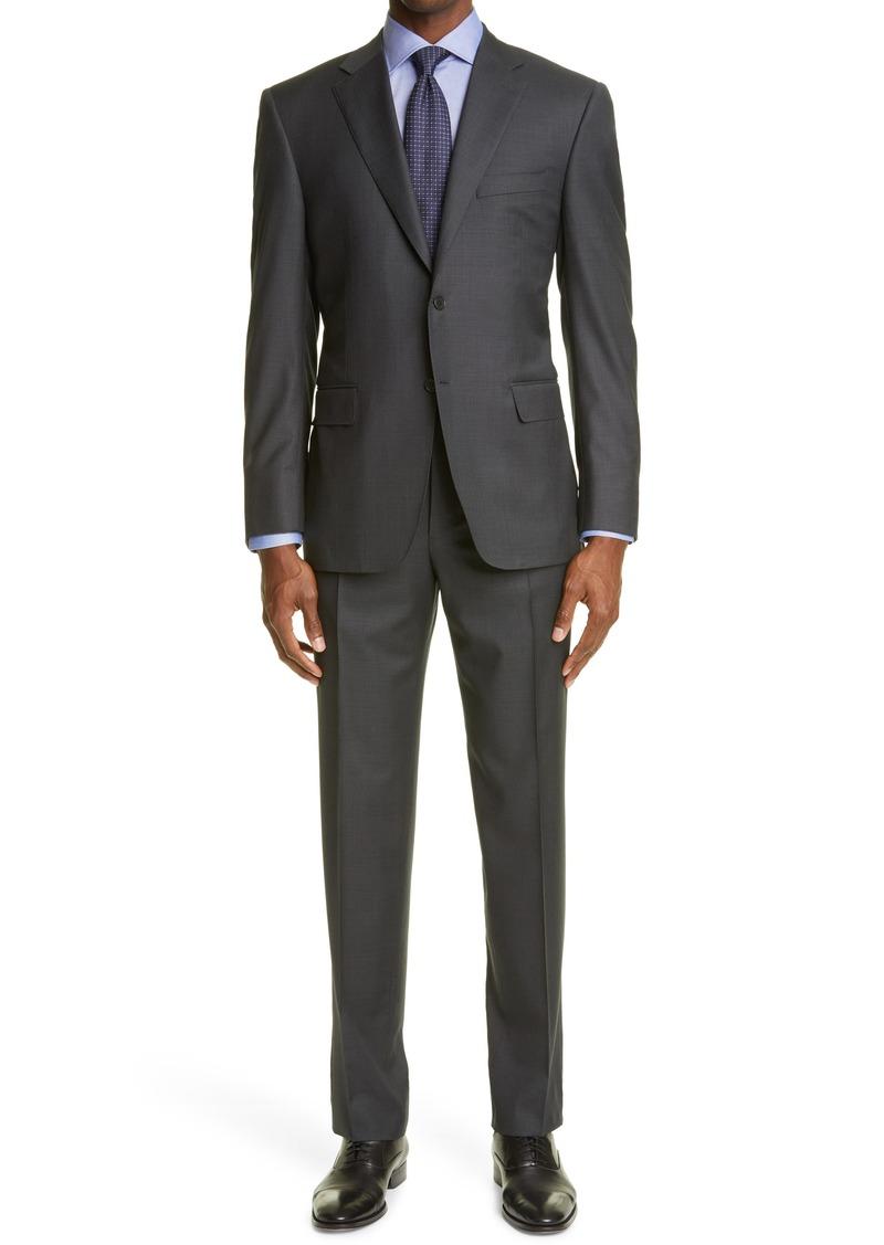 Men's Canali Siena Micro Texture Wool Suit