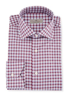 Canali Men's Check Cotton Dress Shirt