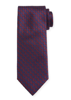 Canali Men's Contemporary Braid Silk Tie  Red