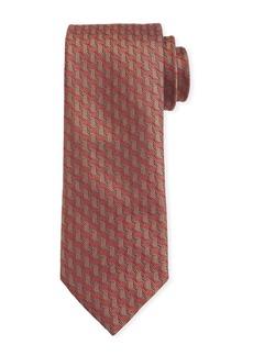 Canali Men's Contemporary Braid Silk Tie  Rust