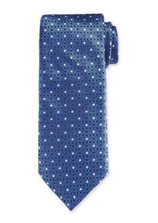 Canali Men's Contemporary Links Silk Tie  Blue