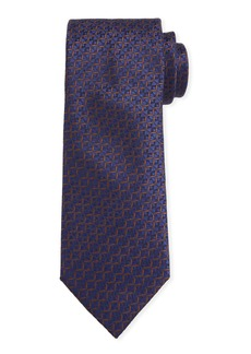 Canali Men's Cross Silk Tie  Navy