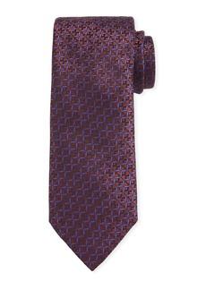 Canali Men's Cross Silk Tie  Rust