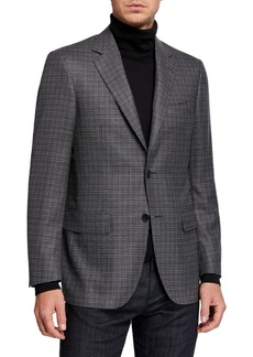 Canali Men's Houndstooth Wool Sport Jacket