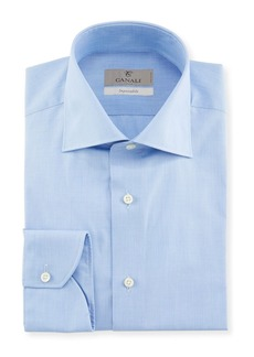 Canali Men's Impeccabile Solid Dress Shirt  Blue