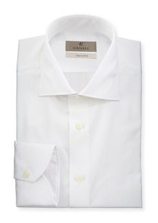 Canali Men's Impeccabile Solid Dress Shirt  White