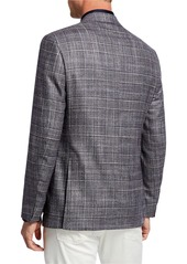 Canali Men's Kei Glen Plaid Wool-Blend Sport Coat