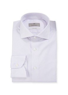 Canali Men's Lilac Double Stripe Dress Shirt