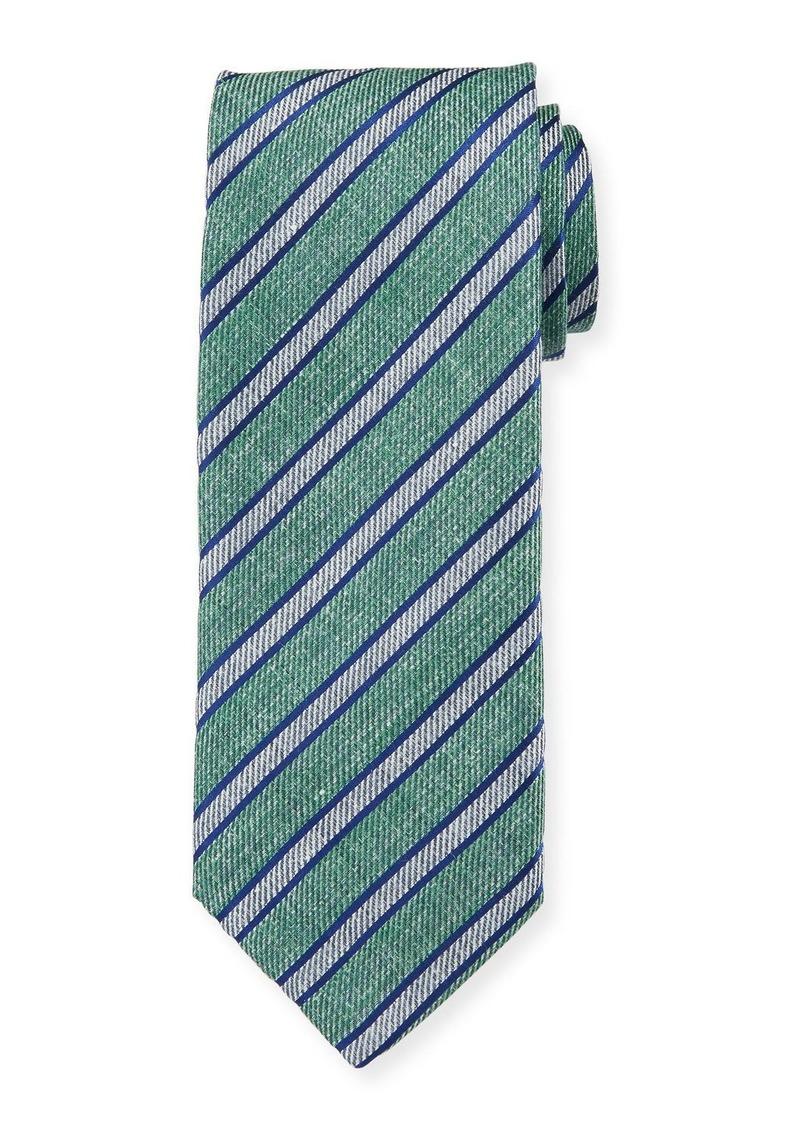 Men's Linen Stripe Tie