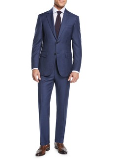 Canali Men's Micro-Check Wool Two-Piece Suit