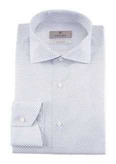 Canali Men's Micro Circles Dress Shirt