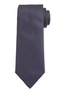 Canali Men's Micro-Dot Silk Tie  Blue