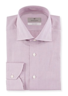 Canali Men's Micro Stripe Cotton Dress Shirt
