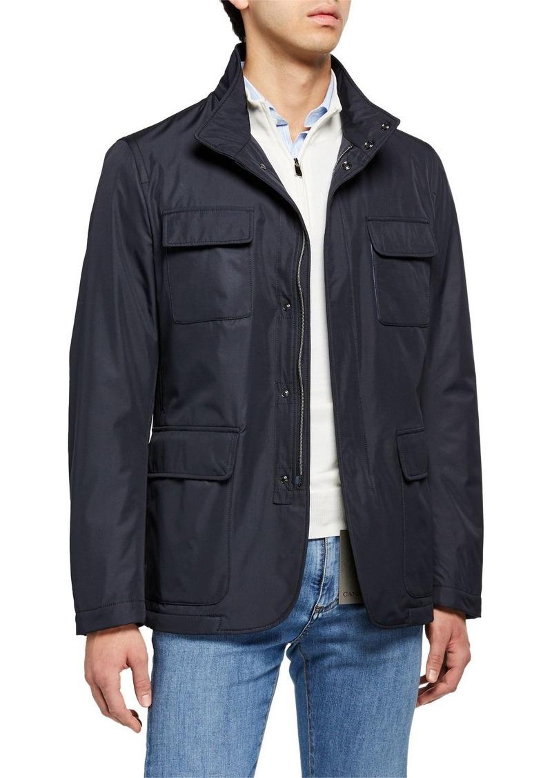 Canali Men's Microfiber Blazer-Style Jacket