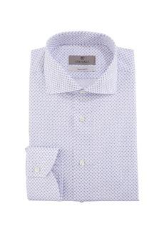 Canali Men's Mini Diamond Dress Shirt