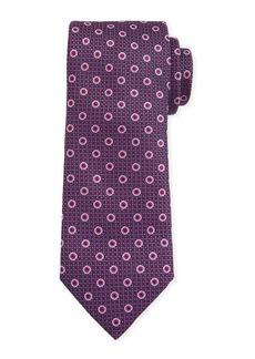 Canali Men's Pebbled Circle Silk Tie