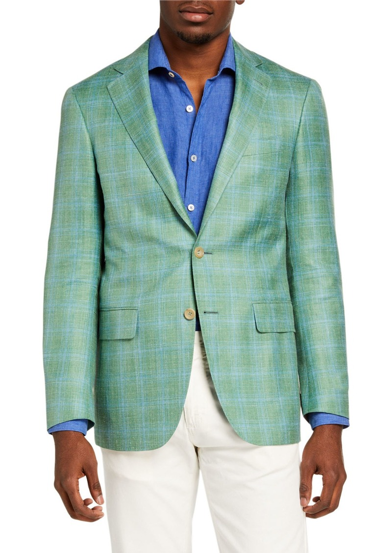 Canali Men's Plaid Wool-Blend Sport Jacket