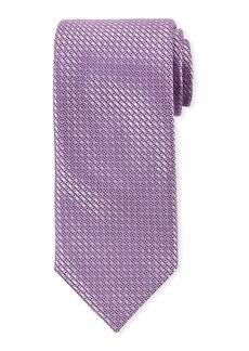 Canali Men's Satin Tonal Geometric Tie  Purple
