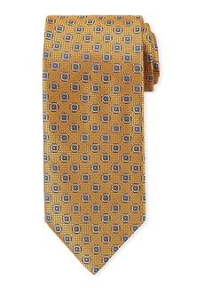 Canali Men's Satin Woven Hexagon Tie