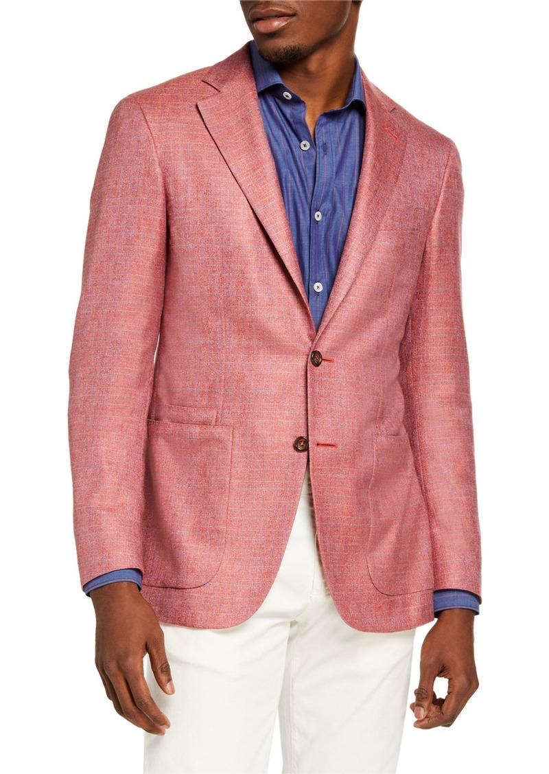 Canali Men's Silk-Cashmere Check Sport Jacket