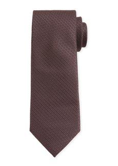 Canali Men's Star-Weave Silk Tie  Brown