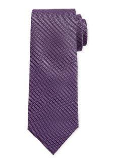 Canali Men's Star-Weave Silk Tie  Purple