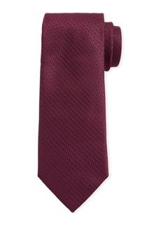 Canali Men's Star-Weave Silk Tie  Red