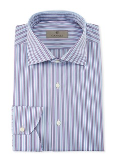 Canali Men's Striped Cotton Dress Shirt