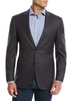 Canali Men's Super 120s Wool Plaid Sport Coat Jacket