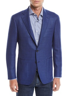 Canali Men's Textured Solid Two-Button Blazer