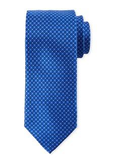 Canali Men's Tonal Circles Silk Tie  Blue