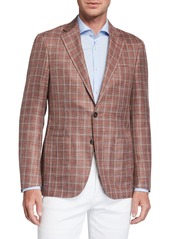 Canali Men's Windowpane Two-Button Jacket