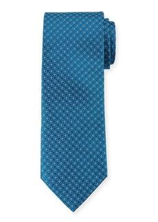Canali Men's Woven Circles Tie  Blue