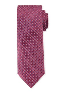 Canali Men's Woven Circles Tie  Red