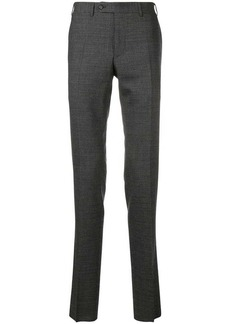 Canali micro check tailored trousers
