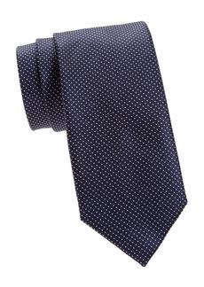 Canali Micro Dot Silk Tie
