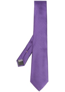 Canali micro floral print tie