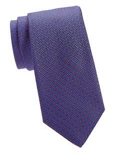 Canali Micro Floral Silk Tie