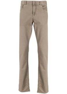 Canali mid rise slim-fit jeans