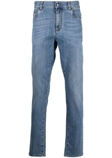 Canali mid-rise straight leg jeans