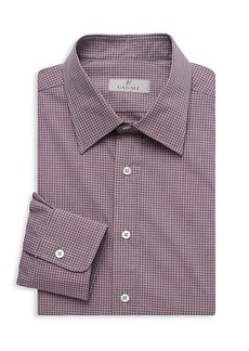 Canali Modern-Fit Checked Dress Shirt